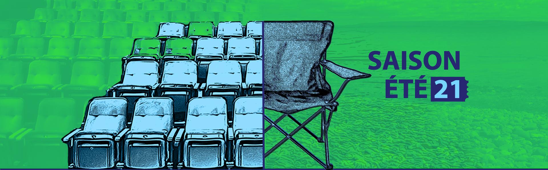SAISON ESTIVALE 2021 : Réservez votre siège ou apportez votre chaise!